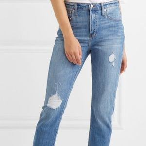 Madewell High-Rise Slim Boyjean Step-Hem